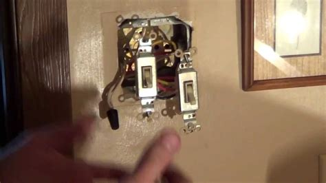 wire  double switch light switch wiring