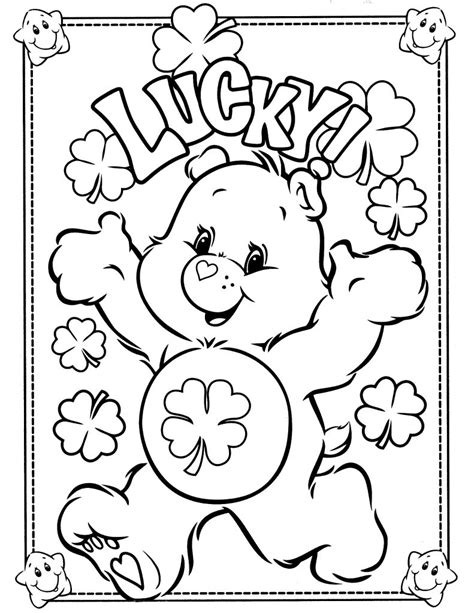 coloring in pages printable free printable care bear coloring pages for kids