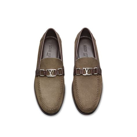 louis vuitton loafer louis vuitton major loafer in brown for lyst