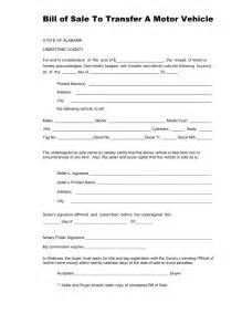 free alabama vehicle bill of sale form for limestone
