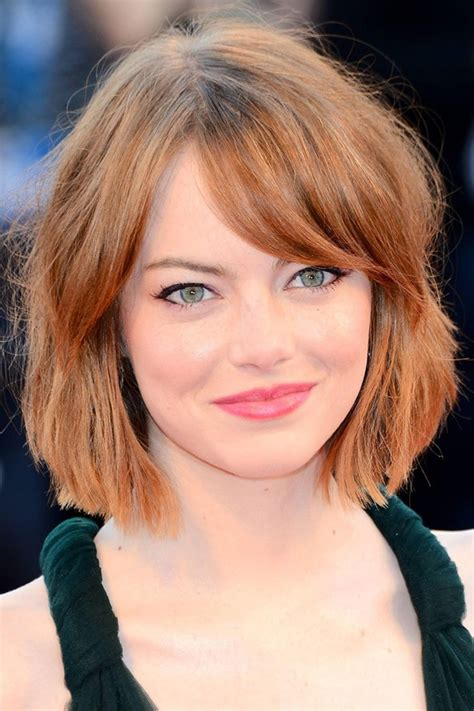 hairstyle ph emma stone s chic new do star style ph