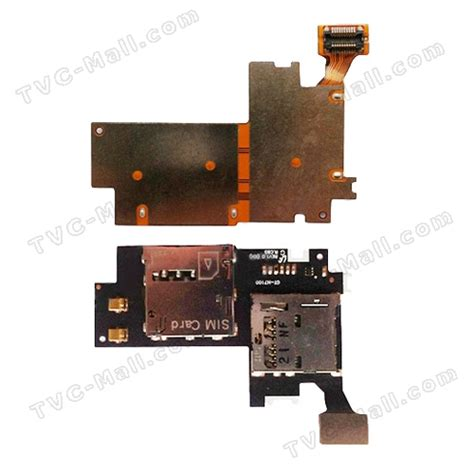Flexibel Connector Sim Mmc Samsung Galaxy Note 2 N7100 for samsung galaxy note ii n7100 sim card connector and memory card holder flex cable tvc mall