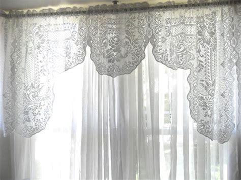 Cottage Lace Curtains Cottage Lace Curtains Vintage Shabby Cottage Chic White Lace Curtain Valance 24 Quot X 142