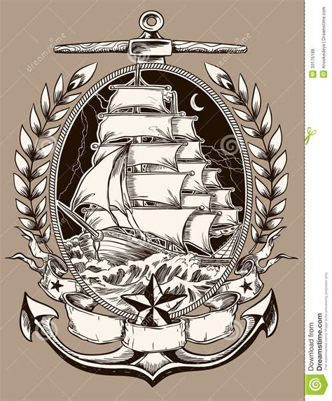 xs tattoo prices tattoo style pirate ship in crest stock vector image