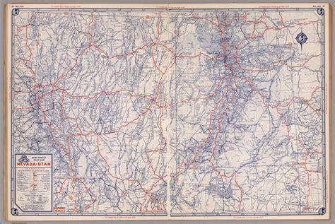 road map of utah and nevada nevada road map images