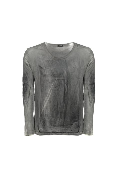 Sleeve Distressed T Shirt distressed sleeve t shirt charcoal grey from intro uk