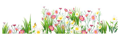 Flowers And Grass Png Picture Clipart Png Flowers Flower Garden Png