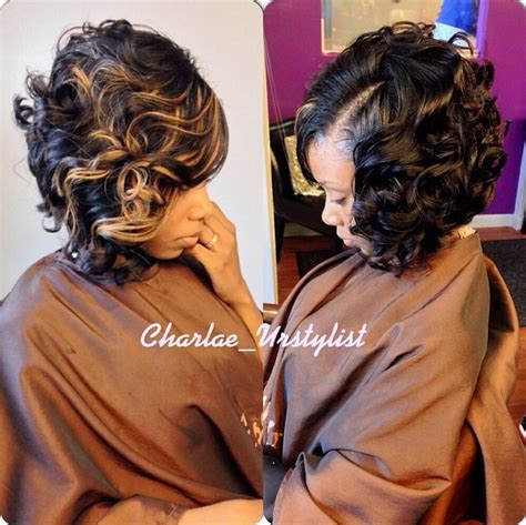 gorgeous curly bob haircut weaves hair
