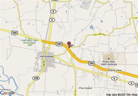 hempstead texas map map of americas best value inn hempstead