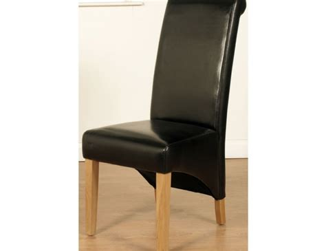 faux leather dining room chairs nico black faux leather dining chairs