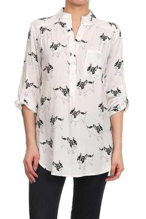 Blouse By K L A M B Y cals bulldog blouse from los angeles by goldie s