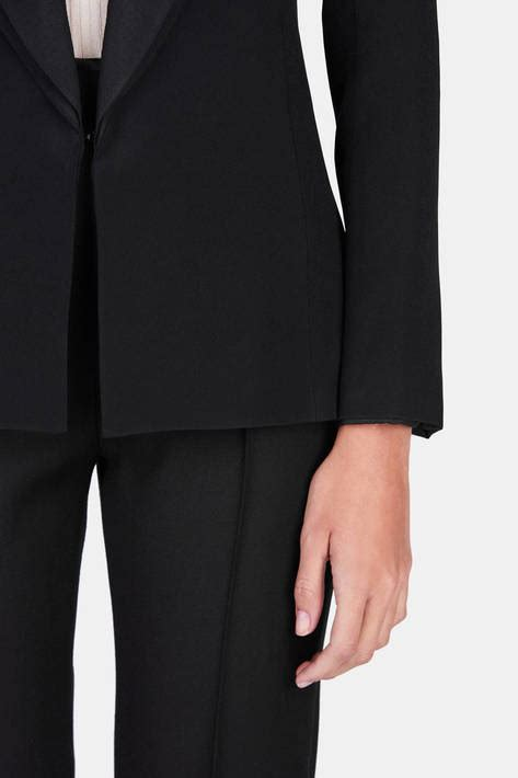 Pashmina Italianocrep brandon maxwell jacket with classic lapel black the line