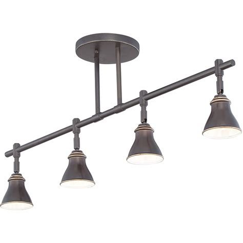 Modern Track Lighting Fixtures Quoizel Qtr10054pn Contemporary Ceiling Track Light Qz Qtr10054pn