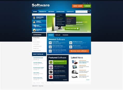 Software Store Website Template 36593 Software House Website Template