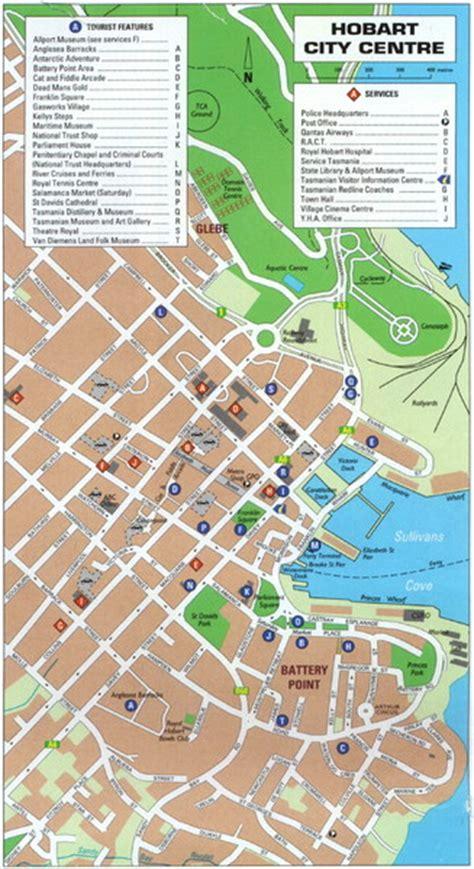 map of hobart city hobart tourist map hobart tasmania mappery