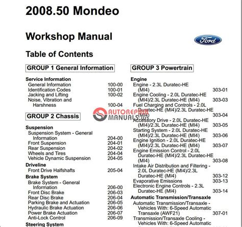 small engine repair manuals free download 2009 ford fusion on board diagnostic system ford mondeo 2008 2009 workshop manual auto repair manual forum heavy equipment forums