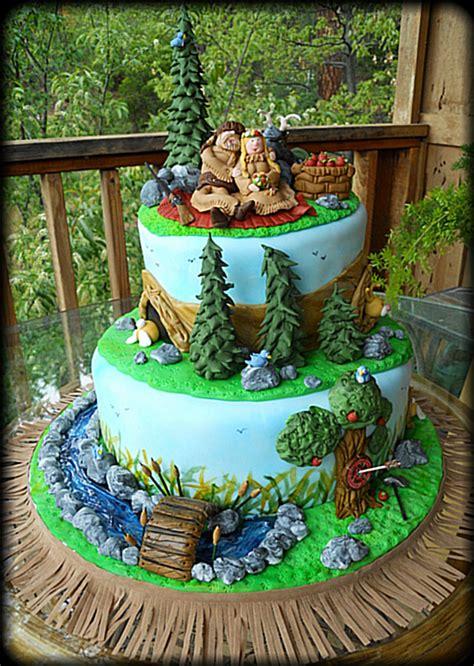 Wedding Cake Mountain by Mountain Theme Wedding Cake Cakecentral