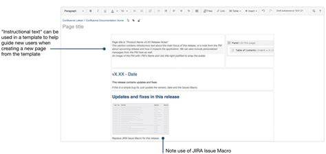 release notes template for software development confluence 6 6 atlassian documentation