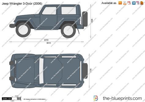 jeep drawing the blueprints com vector drawing jeep wrangler 3 door