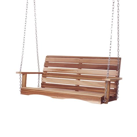 cedar swings shop all things cedar natural porch swing at lowes com