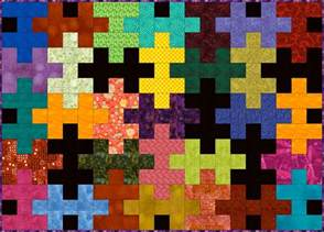 Gardening For Small Spaces - easy jigsaw puzzle quilt pattern