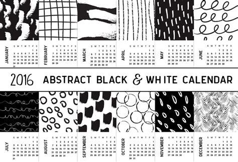 printable calendar black and white 2016 abstract black and white printable calendar