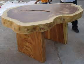 reclaimed solid slab acacia wood dining table by