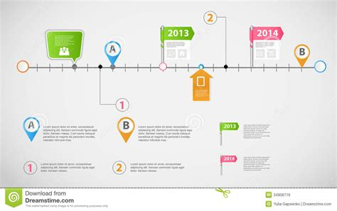timeline infographic business template vector slide deck