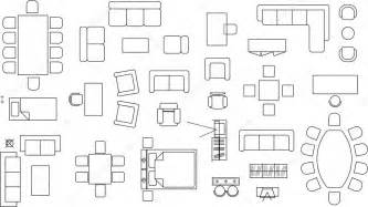 3 Bedroom Floor Plan With Dimensions furniture blocks stock vector 169 daneziv 2594103