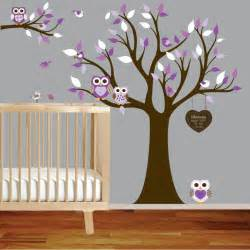 Owl Nursery Wall Stickers Vinyl Wall Decal Stickers Owl Tree Set Nursery Girls Baby