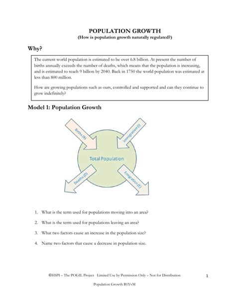 5 1 How Populations Grow Worksheet Answer Key