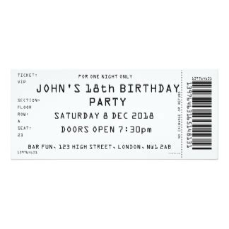 gig ticket template concert ticket invitations announcements zazzle