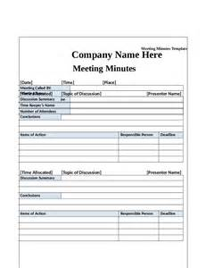 template for minutes of meeting meeting minutes template minutes of meeting format
