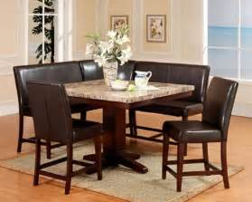 Dining Table Booth Style Chairs 23 Space Saving Corner Breakfast Nook Furniture Sets Booths