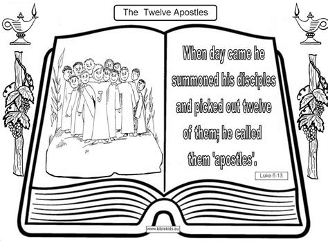 Coloring Page 12 Disciples by Twelve Apostles Coloring Page Twelve Apostles Of Jesus