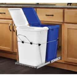 Kitchen Cabinet Trash Can Pull Out Rev A Shelf Rv 18pbc 11rc 5 70 Quart Plastic Pull Out Trash Can Lowe S Canada