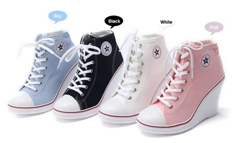 converse with high heels converse wedge heel for shoes beautiful shoes