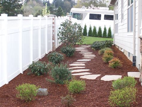bushes for north side of house side yard idea for where grass will not grow at gate on