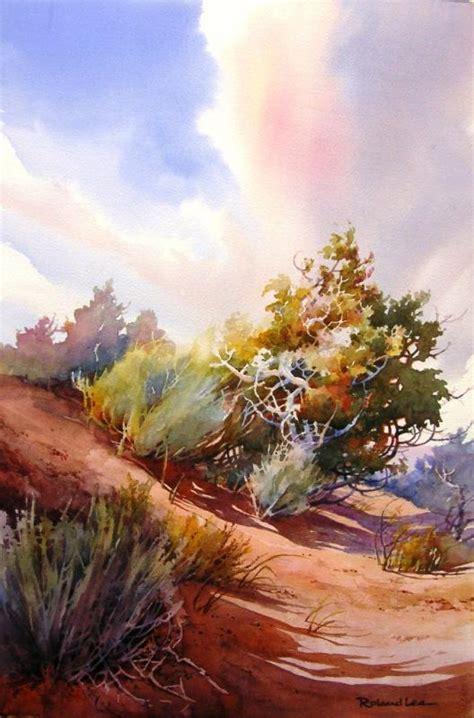 dance tutorial desert original watercolor landscape painting of the southwest