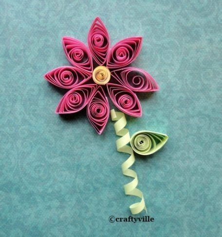 free flower quilling patterns learn how to quill a flower