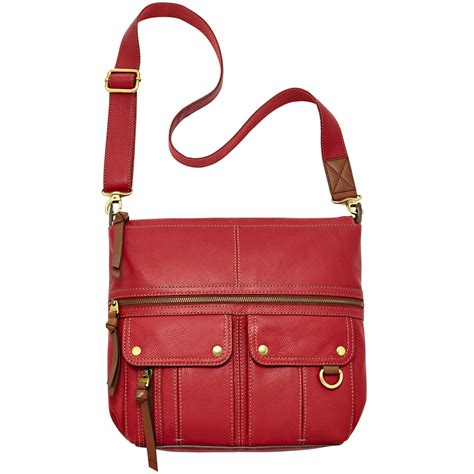 Fossil Crossbody Model 705b fossil leather top zip crossbody in lyst