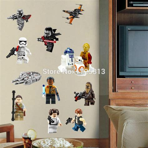 wars poster lego wall stickers for baby