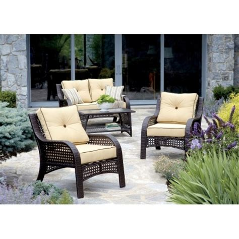 Chicago Wicker Napa 4 Piece Wicker Chat Set Patio Chicago Patio Furniture