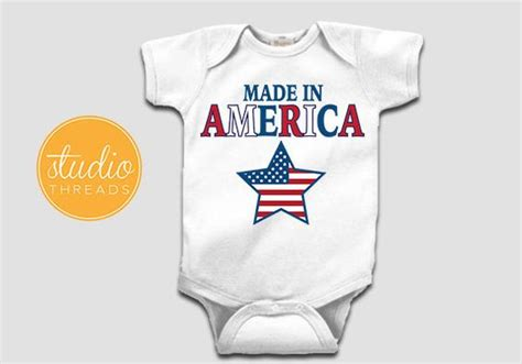 Giwang Tindik Baby Made In Usa 4th of july onesie made in america onesie customizable personalized baby onesie