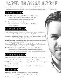 Musician Resume by Pin By Jared Horne On Resume Cv Website Design And Logo Pintere