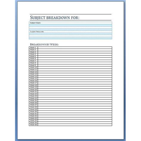 homeschool subject planner printable organize your year with a downloadable homeschool student