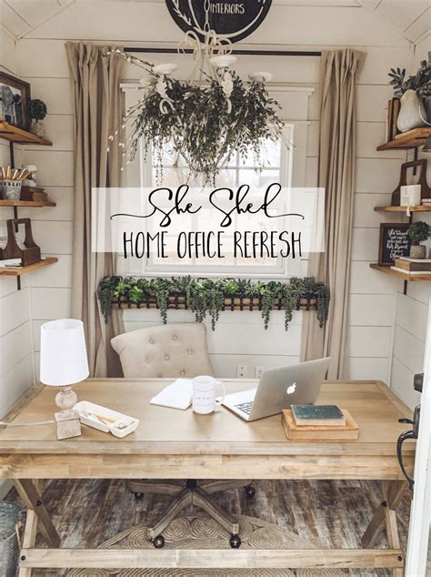 shed office refresh cotton stem cozy home