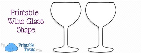 wine glass template printable wine glass shape printable treats
