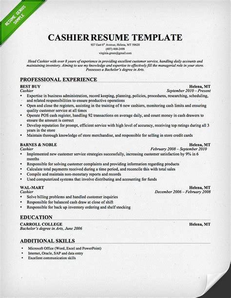 sample resume of a cashier handling money resume cashier resume