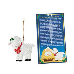 legend of the lamb christmas ornaments with card